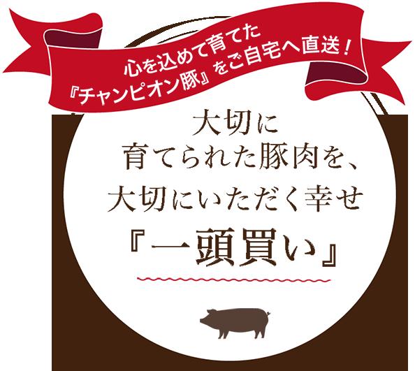 心を込めて育てた「チャンピオン豚」をご自宅へ直送!大切に育てられた豚肉を、大切にいただく幸せ「一頭買い」